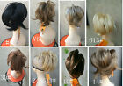 Bendable  claw Clip-on straight  ponytail Extensions hair Hairpiece
