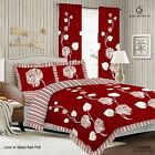 Duvet Cover with Pillow Case Quilt Cover Bedding Set Frilled Edge - SLEEP RED