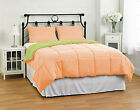 Box Stitching Down Alternative Reversible Comforter Full/Queen Set Select Color