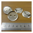 20 SILVER PLATED ROUND BROOCH PINS *3 SIZES* ACCESSORIES  HABERDASHERY CRAFTS