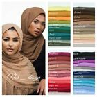 Cotton Blend Viscose Maxi Crinkle Hijab Scarf Soft  Muslim 72 colors 180x100cm