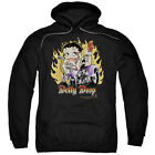 Betty Boop BIKER FLAMES BOOP on Motorcycle Bike Licensed Sweatshirt Hoodie $52.98 CAD