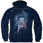 Betty Boop PROUD BETTY American Flag Vintage Style Licensed Sweatshirt Hoodie $41.71 USD on eBay