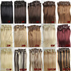 "AAAA+ 15""18""20""22"" Clip In/On Remy Real Human Hair Extensions Straight 7pcs/set"
