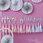 Iridescent 'Happy Birthday' Bunting / DIY Tassel Garland Kit - Unicorn Party
