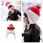 Kids Winter Hat Knit Beanie Xmas Snowman Cap Warm Christmas Adorable Child Baby