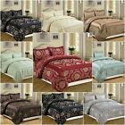 3 Pcs(Piece) Jacquard Bedspread Quilted Comforter Set Bedding Size Double, King
