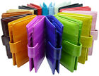 Luxury Genuine Eel skin Leather Bifold Wallet with coin Purse Wallet 16 Colors