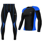 Mens Compression Tights+Top Armour Base Layer Gym Fitness Tights shirt Swim yoga