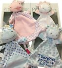 Personalised Baby's teddy comfort blanket, Giraffe or Hippo snuggle - comforter.