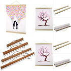 21/30/40/50/70cm Magnetic Wooden Photo Hanger Frame Scroll Print Poster Picture