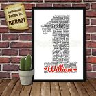 First 1st Birthday Personalised Present Print wordart greeting poster gift