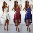 US Womens Lace Evening Cocktail Party Dress Ladies Sleeveless Long Maxi Dresses