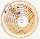 """Elbesee Cross Stitch Wooden Embroidery Craft Hoops- Sizes 3"""" to 12"""" UK Product"""