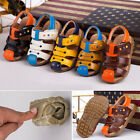 Summer New Fashion Boys Flats Beach Shoes Children Kids Soft Leather Sandals