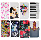 Harry Potter Flamingo Skull Art Leather Wallet Cash Card Case Cover For iphone 7