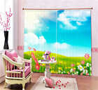 Open Land Wild Flowers 3D Blockout Photo Printing Curtains Draps Fabric Window