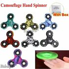 Camouflage 3D Fidget Hand Finger Spinner Anxiety Stress Autism Relief Focus Toys