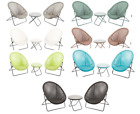 TOBS Bistro Synthetic Rattan Outdoor Garden Set 2 Chairs & 1 Table 5 Colours