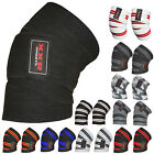 "Power Weight Lifting Knee Wraps Lifter Straps 78"" long and 3"" wide Elasticated"