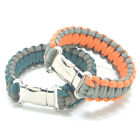 550 Paracord Bracelet w/ Metal Buckle Outdoor Hiking Camping Emergency Gear Kits