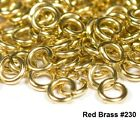 16 Ga Wire Red Brass Open Jump Ring Saw Cut 1 Oz / Made In USA