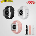 Silicone Rubber Watch Band Replacement For Apple Watch iWatch 38/42mm 3 Color AU