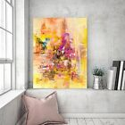 Canvas Art Wall Print Pastel Charcoal Large Abstract Painting Hang Framed