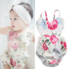 Baby Kids Clothes Girl Floral Print Romper Jumpsuit Playsuit Outfits UK Stock