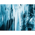 Canvas Art Wall Print Blue Abstract Texture Dark Painting Photo Hang Framed