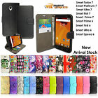 Premium Quality Leather Wallet Book Flip Case Cover For Vodafone Smart Phones