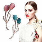 Fashion 3 Colors Retro Blue Pink Apricot Opal Flower Pins Brooch Jewelry Decor