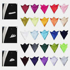 Hot 22CM Fashion men's Solid Polyester pocket square handkerchief wedding hanky