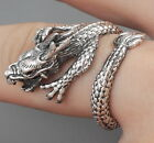 JAPANESE DRAGON LUCK POWER SNAKE CLAW 925 STERLING SOLID SILVER MENS WOMENS RING