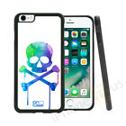 Water Colour Skull Candy Grip Side Gel Case Cover For All Top Mobile Phones