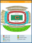 3 Tickets 2017 Green Bay Packers at Chicago Bears, Sec 240