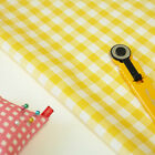By the 1/2yd or 1yd, Yellow Gingham Check 100% Quality Cotton Fabric Craft c-050