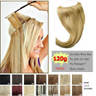 Handmade 100% Human Hair Invisible Wire Halo Handband Hair Extensions 16'' 80G