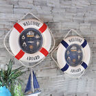 Nautical Style Welcome Aboard Decorative Life Buoy Home Marine Beach Wall Decor