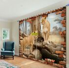 Lions playing in the trees 3d digital Blackout curtains