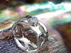 Handcrafted Braided 925 Sterling Silver Braided Celtic Ring withNaturalMoonstone