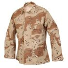 SHIRT BDU Camouflage Coat Desert 6 Colors TWILL 4 POCKETS SIZES Medium Large