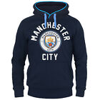Manchester City FC Official Soccer Gift Mens Fleece Graphic Hoody