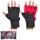 Weight Lifting Gym Body Building Fitness Training Gloves Wear Padded Bar Straps