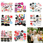 58Pcs Photo Booth Photobooth Props Moustache On A Stick Wedding Party Prop DIY