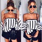 Kyпить Womens Off Shoulder short Sleeve Floral T-Shirt Ladies Summer Beach Tops Blouse  на еВаy.соm