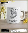 Bedlington Terrier Dog Mug ~ Perfect Gift can be personalised ~ Vintage Style