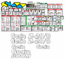 Genie Z20/8 Boomlift Complete Decal Kit (SN 135 to Current)