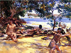 The Bathers by John Singer Sargent  (male art print)