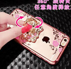 Diamond Crystal Case cover Ring Holder stand Soft TPU For LG iPhone 5 6S 7 plus